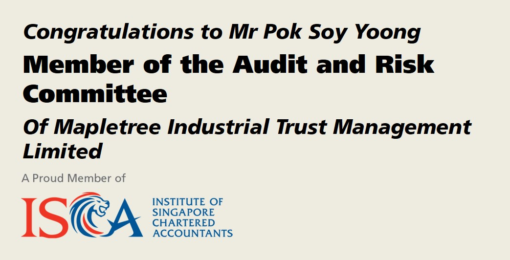 ISCA Member Appointed Member of the Audit and Risk Committee