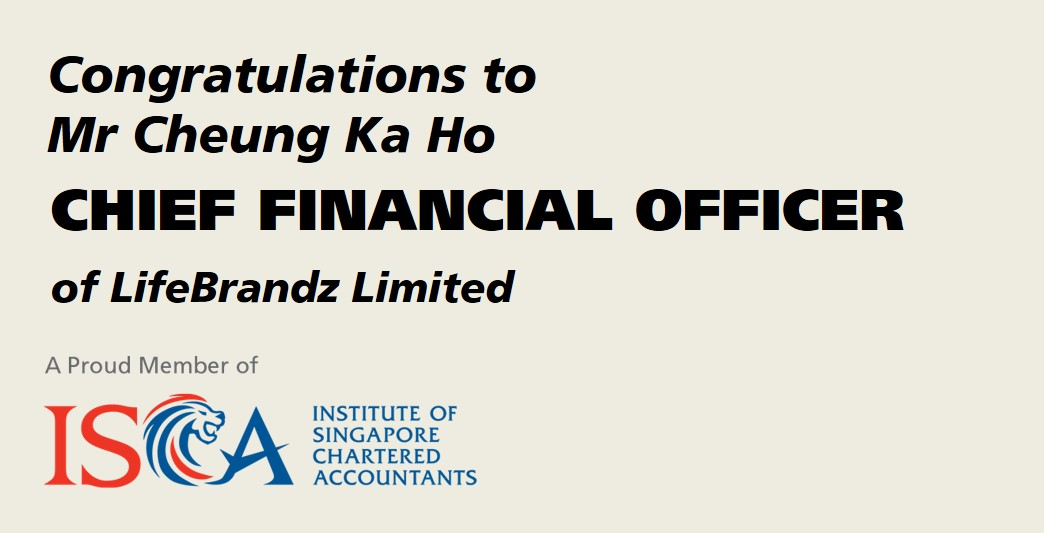 ISCA Member Appointed Chief Financial Officer of LifeBrandz