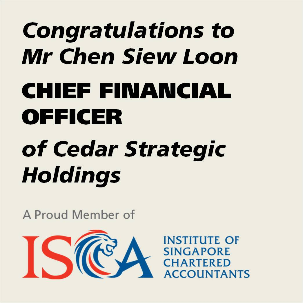 ISCA Member Chen Siew Loon as CFO