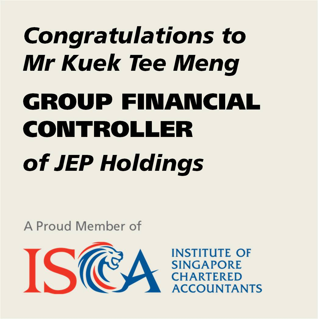 ISCA member appointed group financial controller JEP