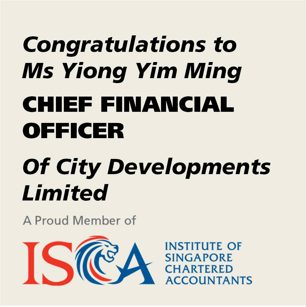 Isca member appointed cfo of city developments ltd isca share this page malvernweather Image collections