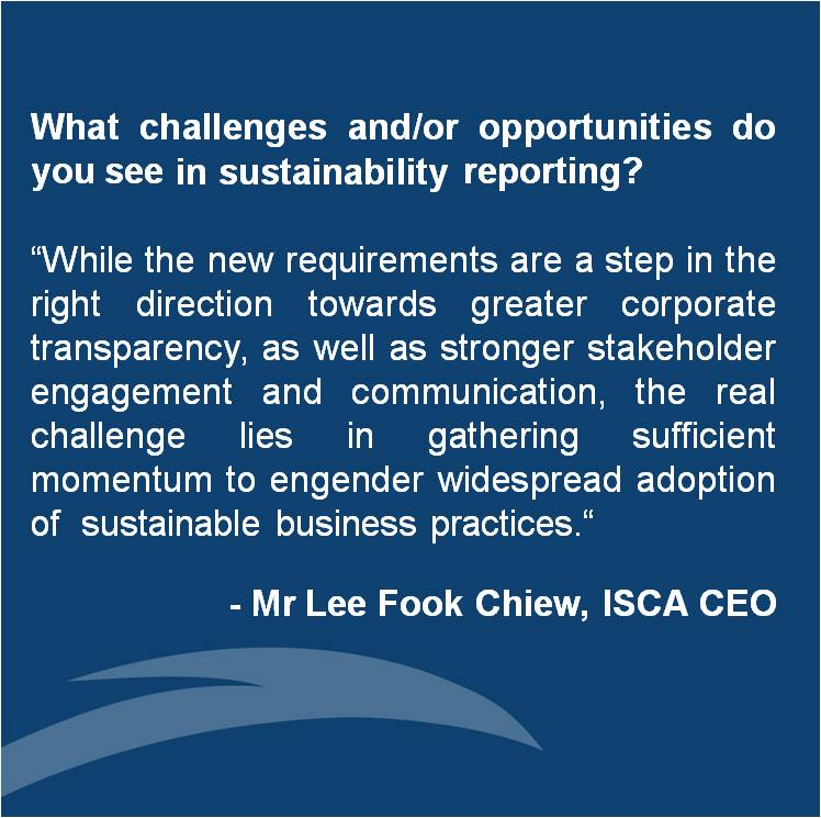 Views from the Top, Sustainability Reporting